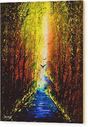 Dripx 74 Wood Print