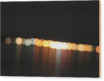 Dripping Light Wood Print by David S Reynolds