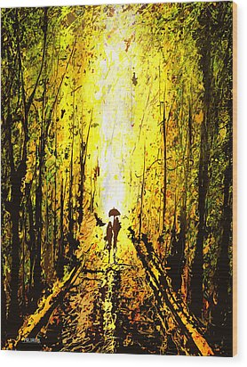 Dripx 71 Wood Print