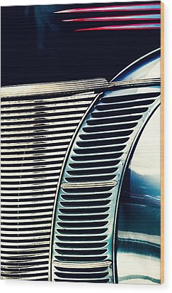Driven To Abstraction Wood Print by Caitlyn Grasso