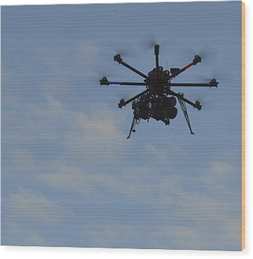 Drone Wood Print by Linda Geiger