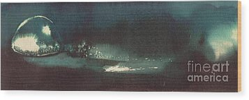 Drop Of Water Wood Print by Annemeet Hasidi- van der Leij