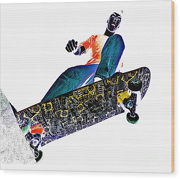 Dropping In Wood Print by Meirion Matthias