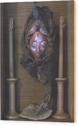 Druantia  1 Wood Print by Carolyn Cable