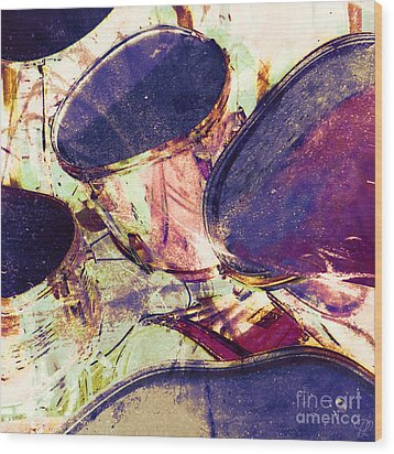 Wood Print featuring the photograph Drum Roll by LemonArt Photography