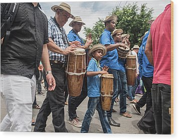 Drummer Boy In Parade Wood Print