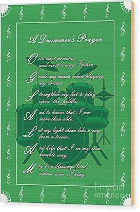 Drummers Prayer_1 Wood Print by Joe Greenidge