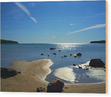 Drummond Shore 1 Wood Print by Desiree Paquette