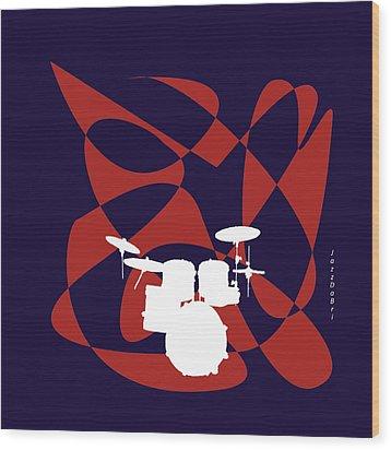Drums In Purple Strife Wood Print by David Bridburg