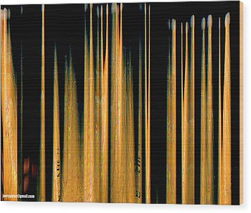 Drumstick Wood Print by Gerard Yates