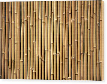 Dry Bamboo Rows Wood Print by Brandon Tabiolo - Printscapes