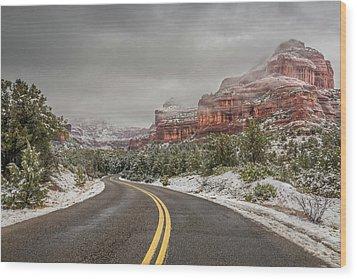 Boynton Canyon Road Wood Print by Racheal Christian