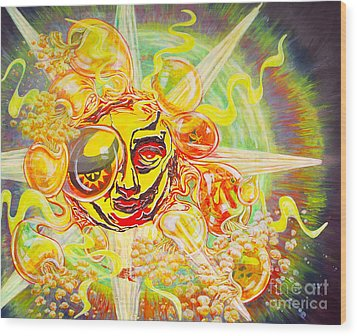 2015 Cbs Sunday Morning Sun Art-solar Flares Wood Print
