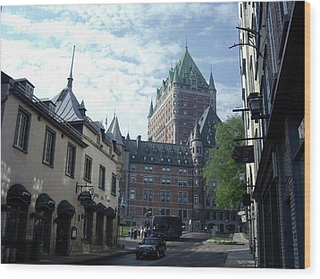 Wood Print featuring the photograph du Fort Chateau Frontenac by John Schneider