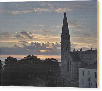 Dublin Sunset Wood Print