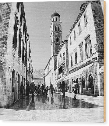 #dubrovnik #b&w #edit Wood Print by Alan Khalfin