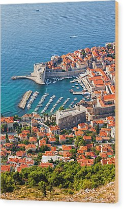 Dubrovnik From Above Wood Print