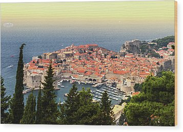 Dubrovnik Old City On The Adriatic Sea, South Dalmatia Region, C Wood Print