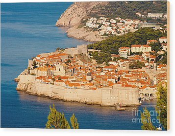 Dubrovnik Old City Wood Print by Thomas Marchessault