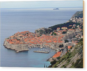 Dubrovnik Wood Print by Ramona Johnston