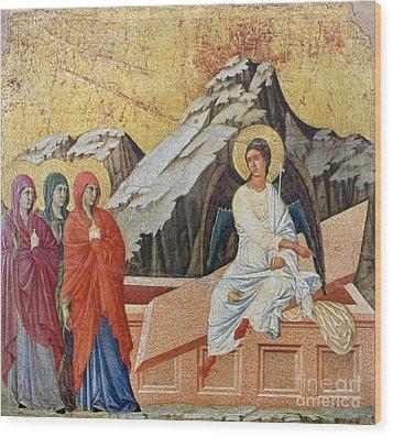 Duccio - Three Marys Wood Print by Granger