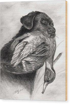 Duck Season Wood Print by Kathleen Kelly Thompson