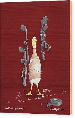 Duck Tape Unbound Wood Print