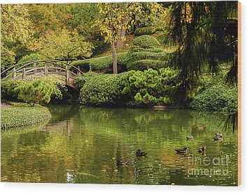 Wood Print featuring the photograph Ducks In Summertime by Iris Greenwell