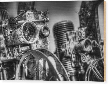 Dueling Projectors Wood Print by Scott Norris