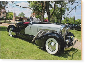Wood Print featuring the photograph Duesenberg Vii by Michiale Schneider