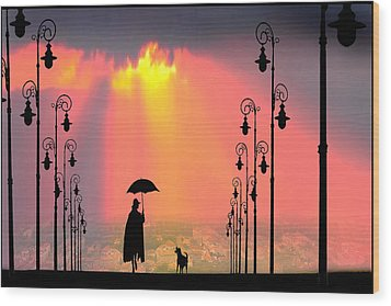 Duet Wood Print by Igor Zenin