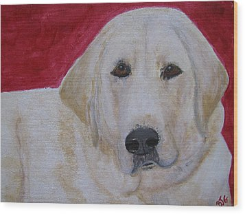 Wood Print featuring the painting Duke by Barbara Giordano