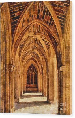 Duke Chapel Wood Print by Betsy Foster Breen