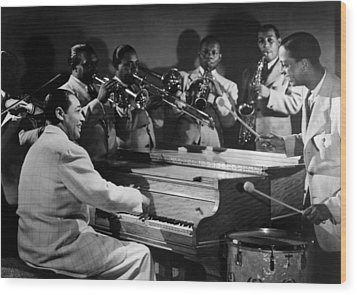 Duke Ellington And His Famous Orchestra Wood Print by Everett