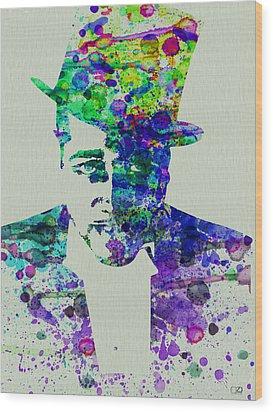 Duke Ellington Wood Print by Naxart Studio
