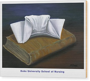 Wood Print featuring the painting Duke University School Of Nursing by Marlyn Boyd