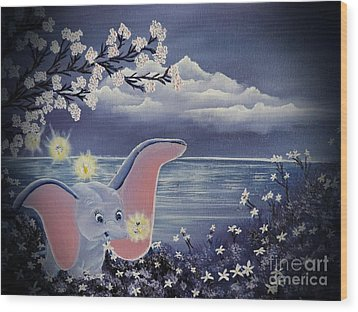Dumbo Wood Print by Dianna Lewis