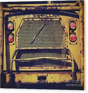 Dump Truck Grille Wood Print by Amy Cicconi