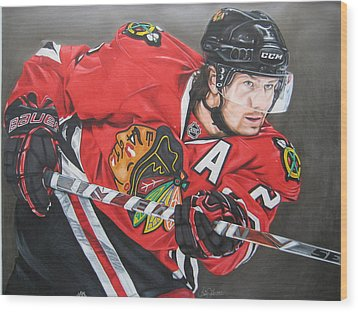 Duncan Keith Wood Print by Brian Schuster