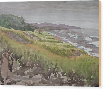 Dune Grass Field Wood Print by Bethany Lee