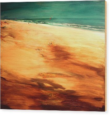 Wood Print featuring the painting Dune Shadows by Winsome Gunning