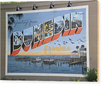 Dunedin Florida Post Card Wood Print