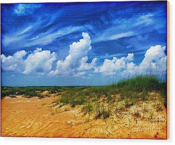 Dunes At Bald Head Island Wood Print