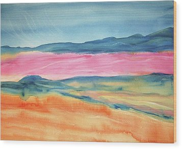 Wood Print featuring the painting Dunes by Ellen Levinson