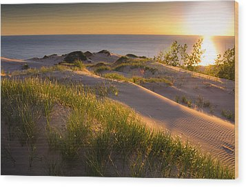 Dunes Wood Print by Jason Naudi Photography