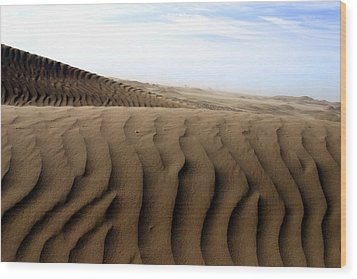 Dunes Of Alaska Wood Print by Anthony Jones
