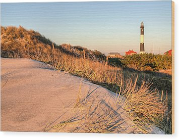 Dunes Of Fire Island Wood Print by JC Findley