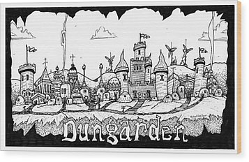 Dungraden Wood Print by Michael Sean Piper