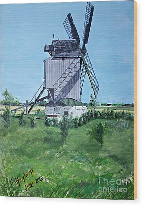 Dunkerque Windmill North Of France Wood Print