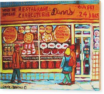 Dunn's Treats And Sweets Wood Print by Carole Spandau